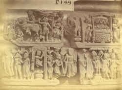 Buddhist sculptures excavated at Lorian Tangai, Peshawar District: small friezes with scenes from the life of Buddha 10031064